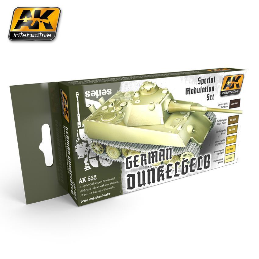 AK Interactive - German Dunkelgelb Modulation Set