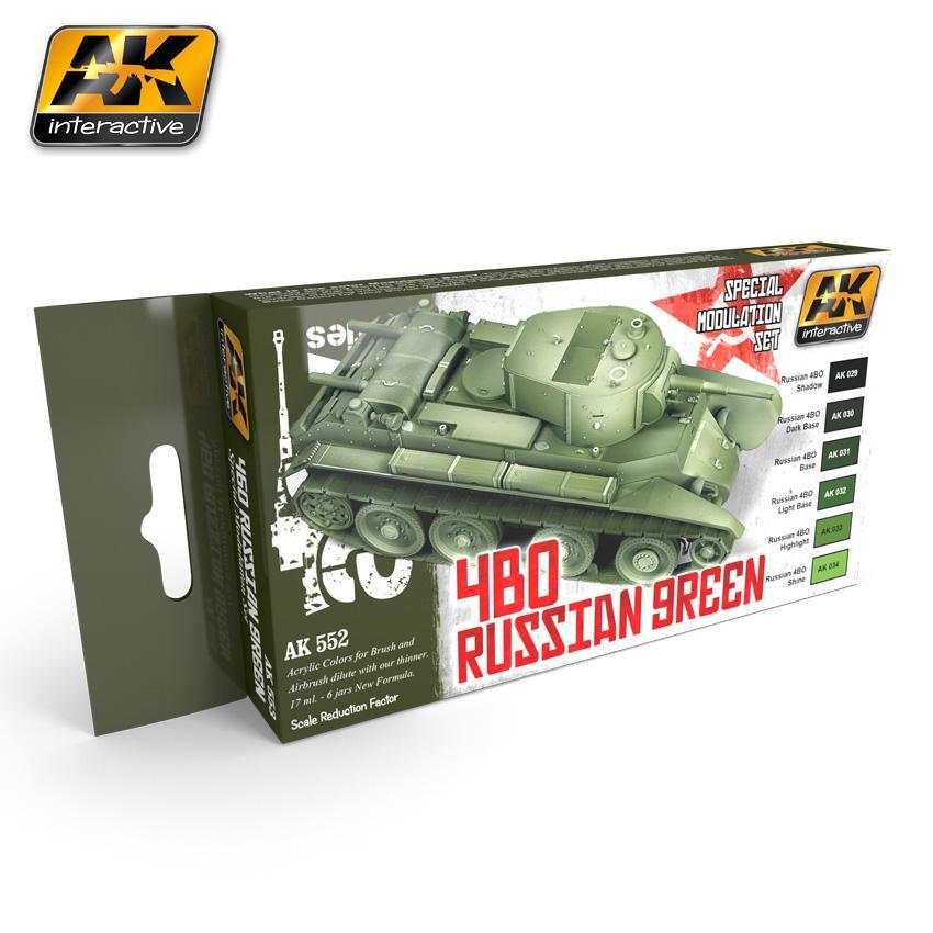AK Interactive - 4BO Russian Green Modulation Set