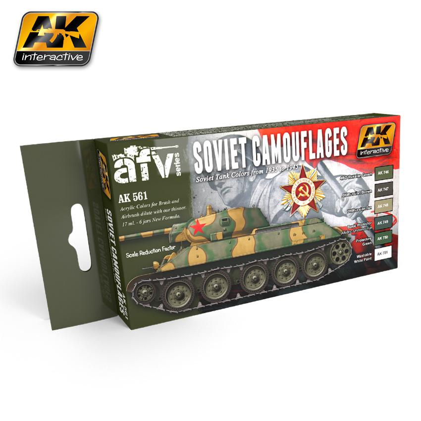 AK Interactive - Acrylic Set for Soviet Camouflages