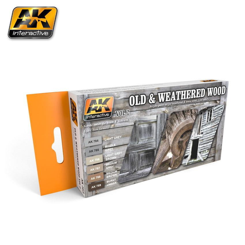 AK Interactive - Old and Weathered Wood Vol.2