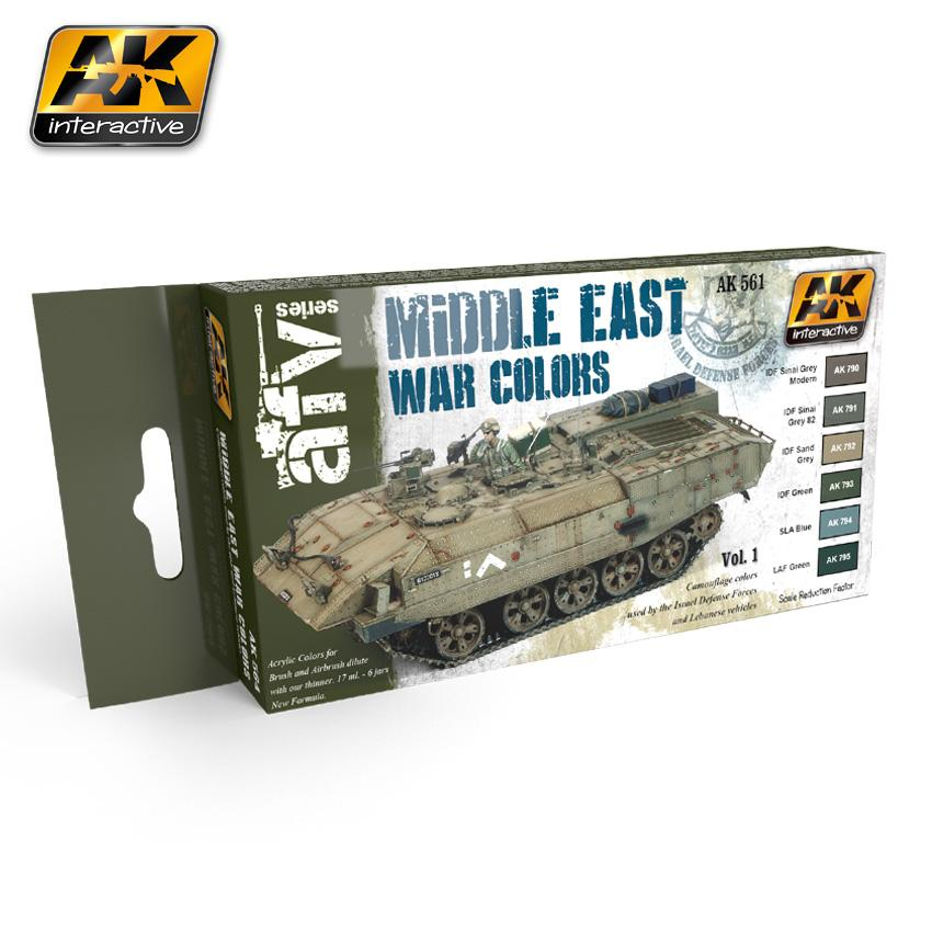 AK Interactive - Middle East War Colors Vol 1