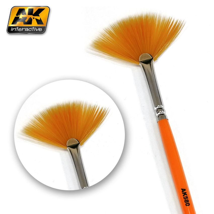 AK Interactive Brushes - Weathering Brush Fan Shape