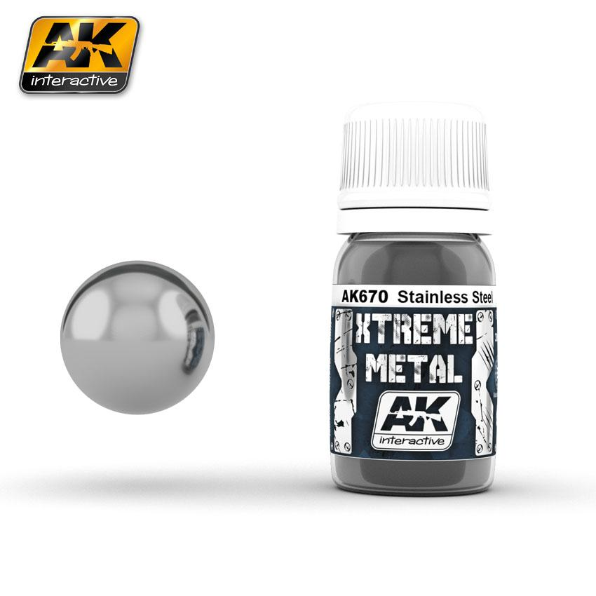 Ak Extreme Metal Paint 30ml -Stainless Steel