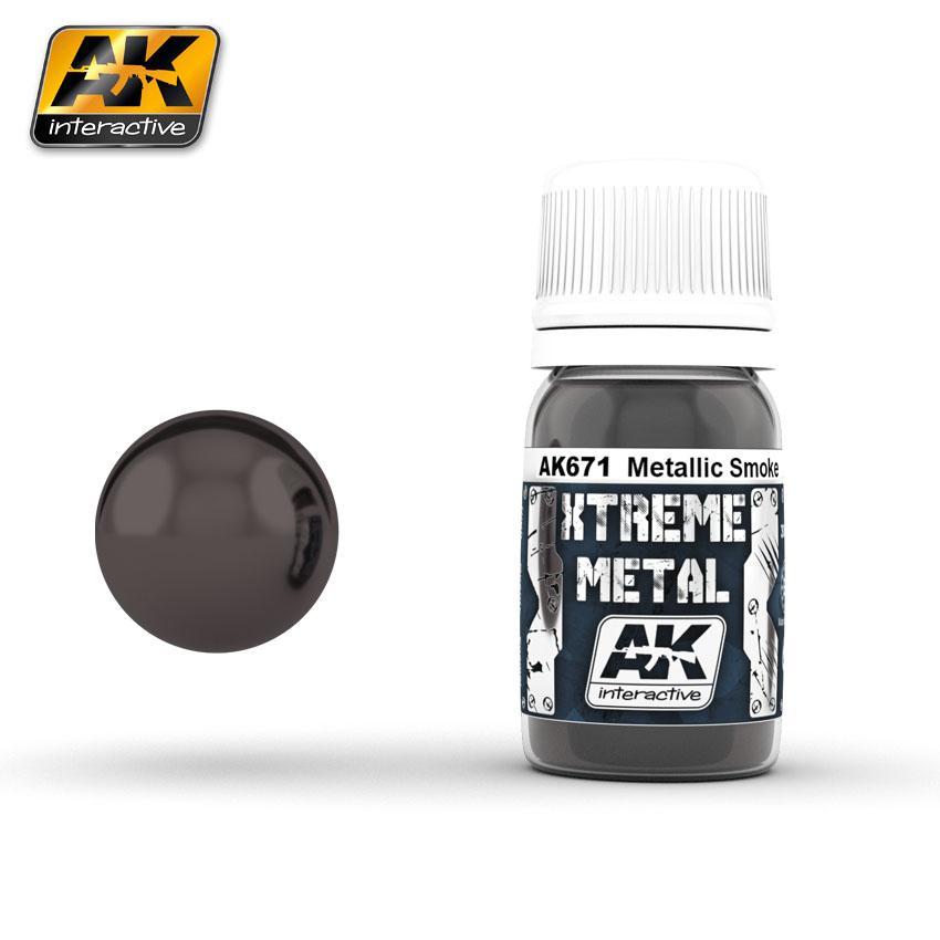 Ak Extreme Metal Paint 30ml -Smoke Metallic