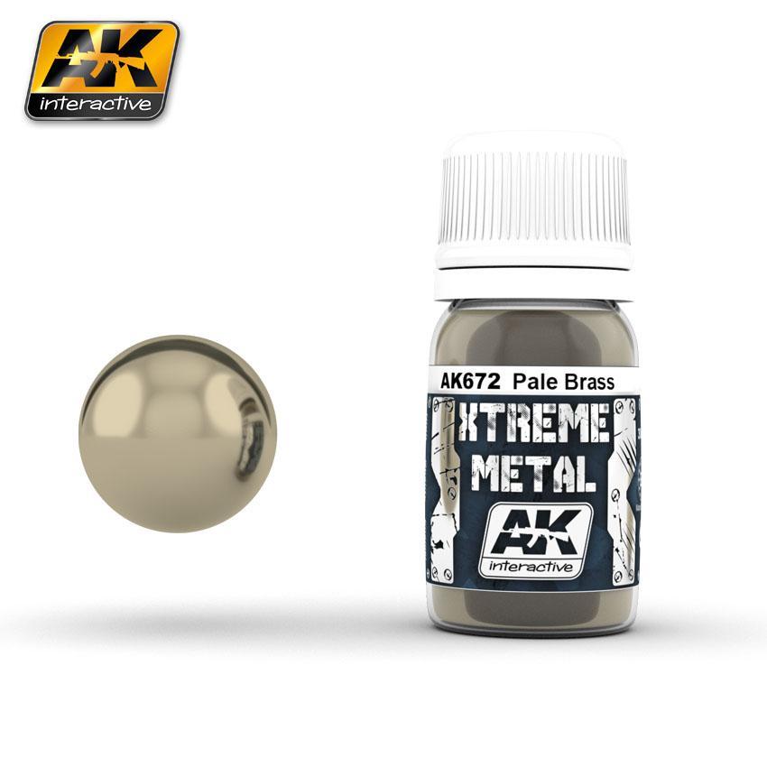 Ak Extreme Metal Paint 30ml -Pale Brass