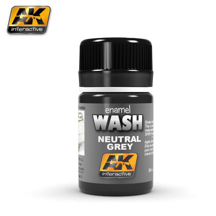 AK Interactive - Neutral Grey for White/Black Wash