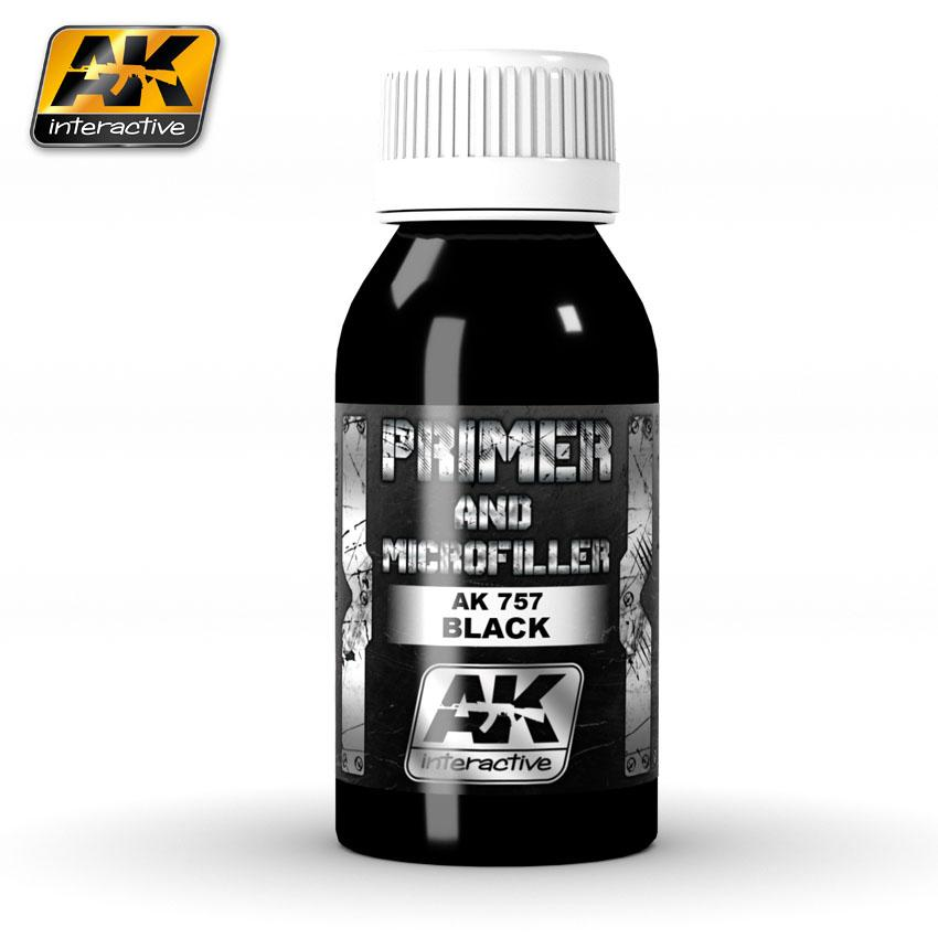 AK Interactive - Black Primer and Microfiller 100ml
