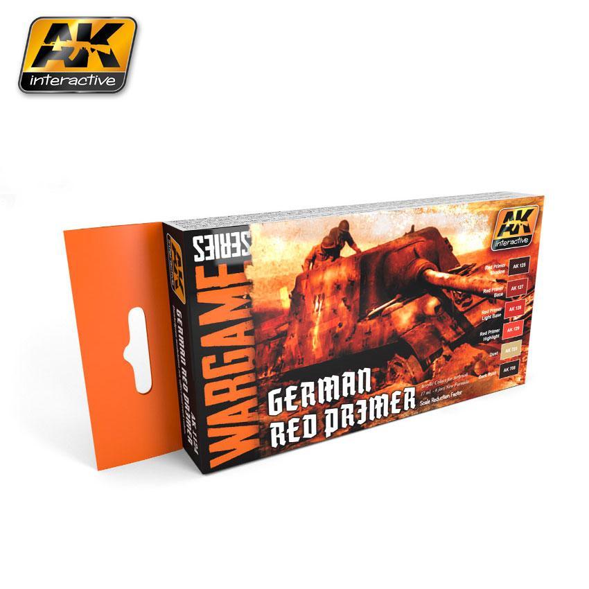 AK Interactive - German Red Primer Set (Wargame Series)