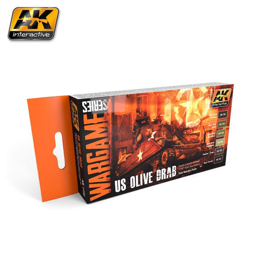 AK Interactive - US Olive Drab Set (Wargame Series)