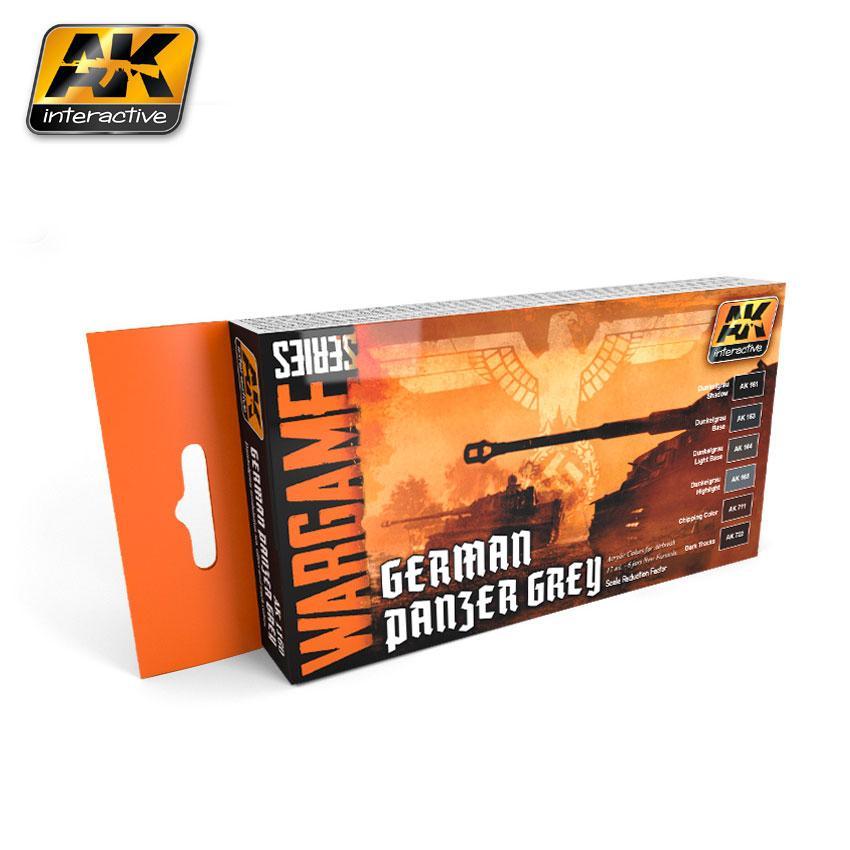 AK Interactive - German Panzer Grey Set (Wargame Series)
