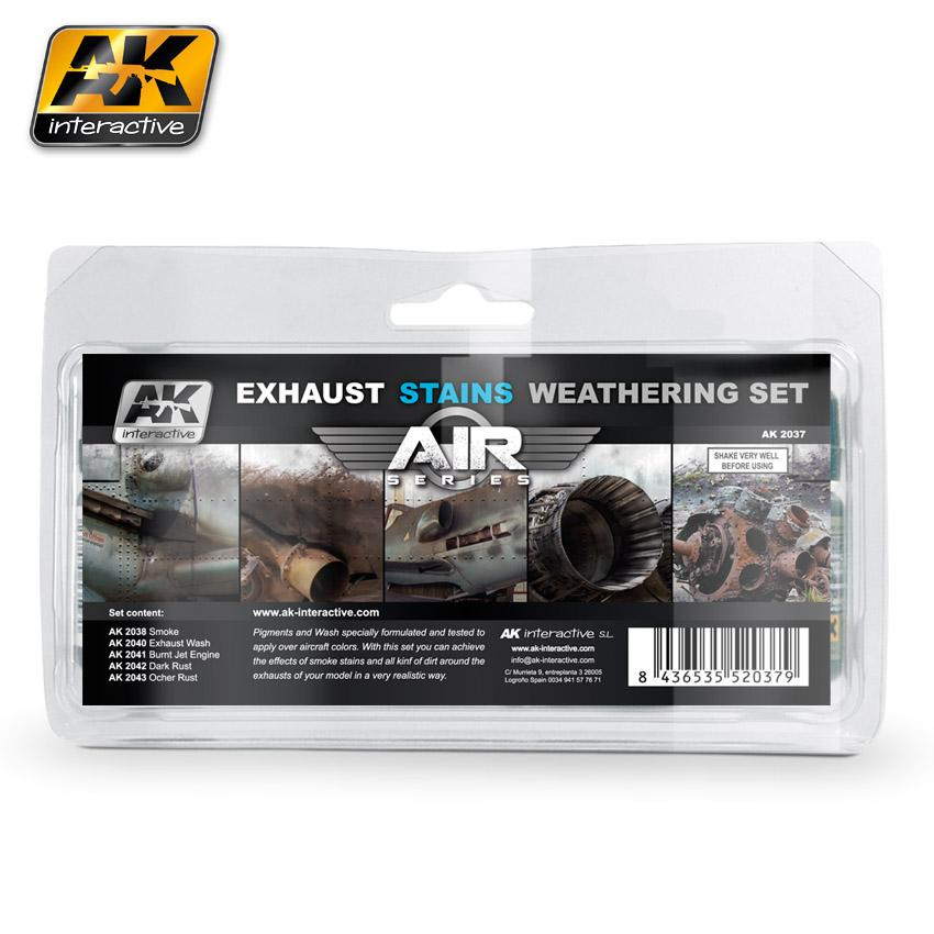 AK Interactive - Exhaust Stains Weathering Set