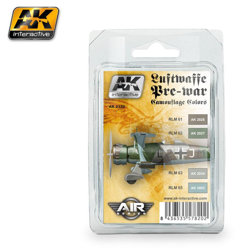 AK Interactive - Luftwaffe Pre -War Camouflage Colors Set