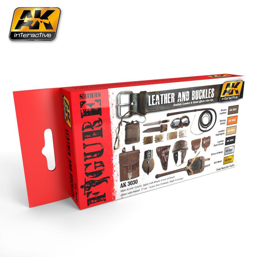 AK Interactive - Leather and Buckles Paint Set