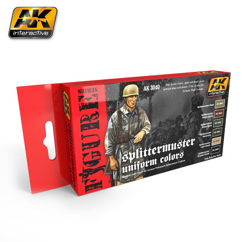 AK Interactive - Splittermu ster Uniform Colours Paint Set