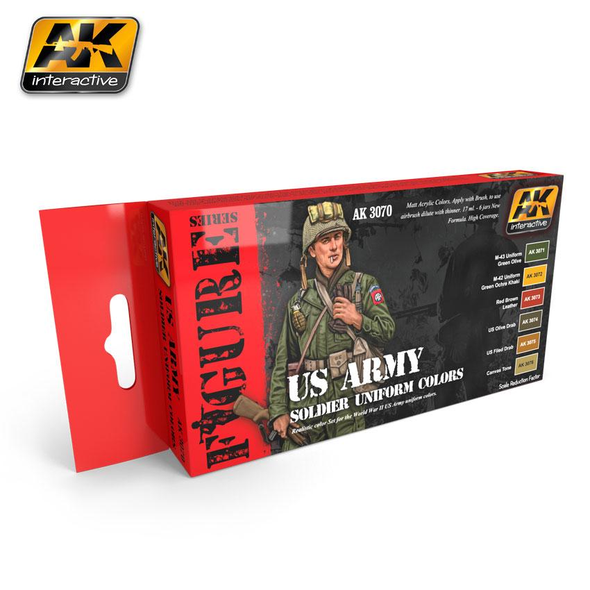 AK Interactive - US Army Soldier Uniform Colors Set