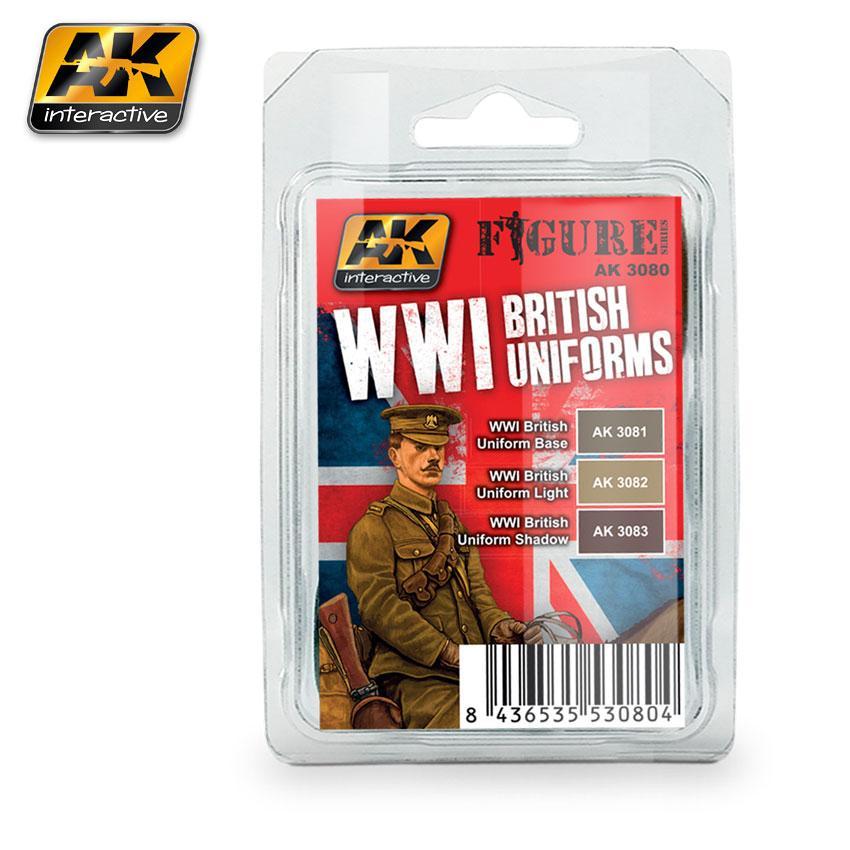 AK Interactive Paint Set - WWI British Uniforms