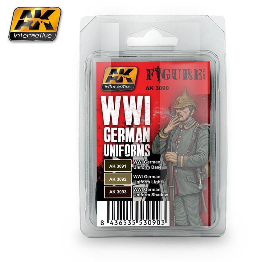 AK Interactive Paint Set - WWI German Uniforms
