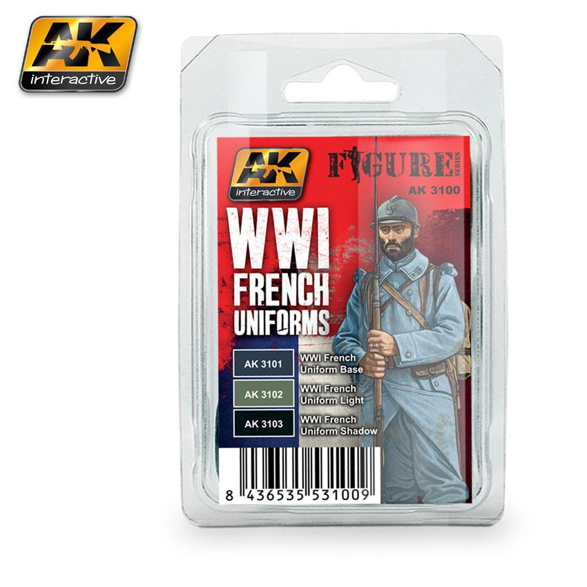 AK Interactive Paint Set - WWI French Uniforms