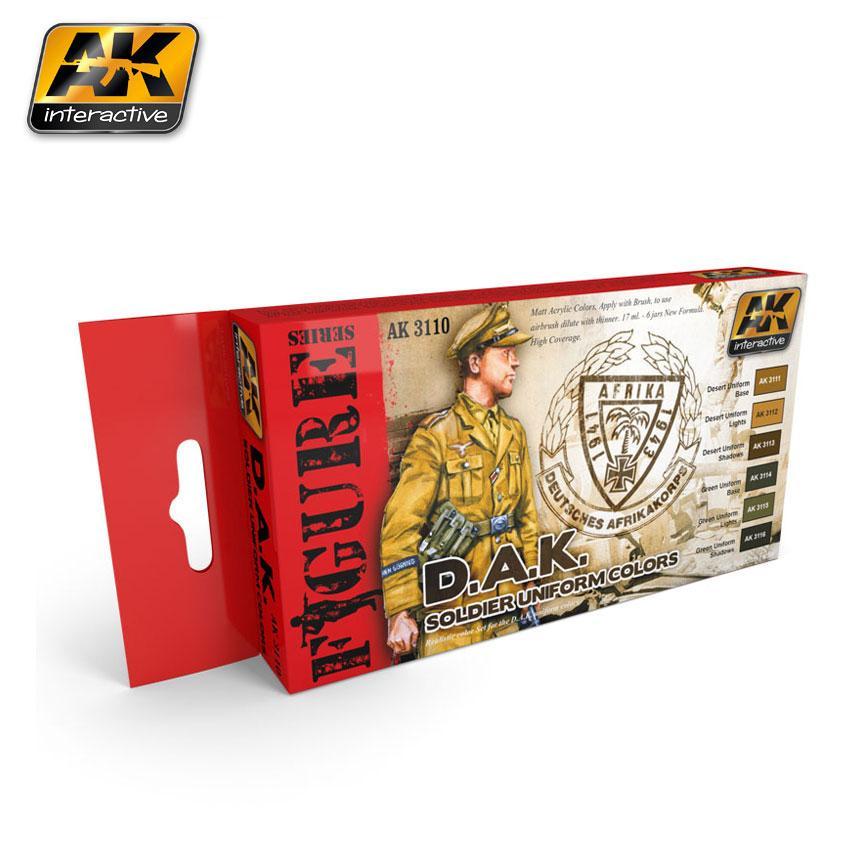 AK Interactive - D.A.K. Soldier Uniform Colors Set