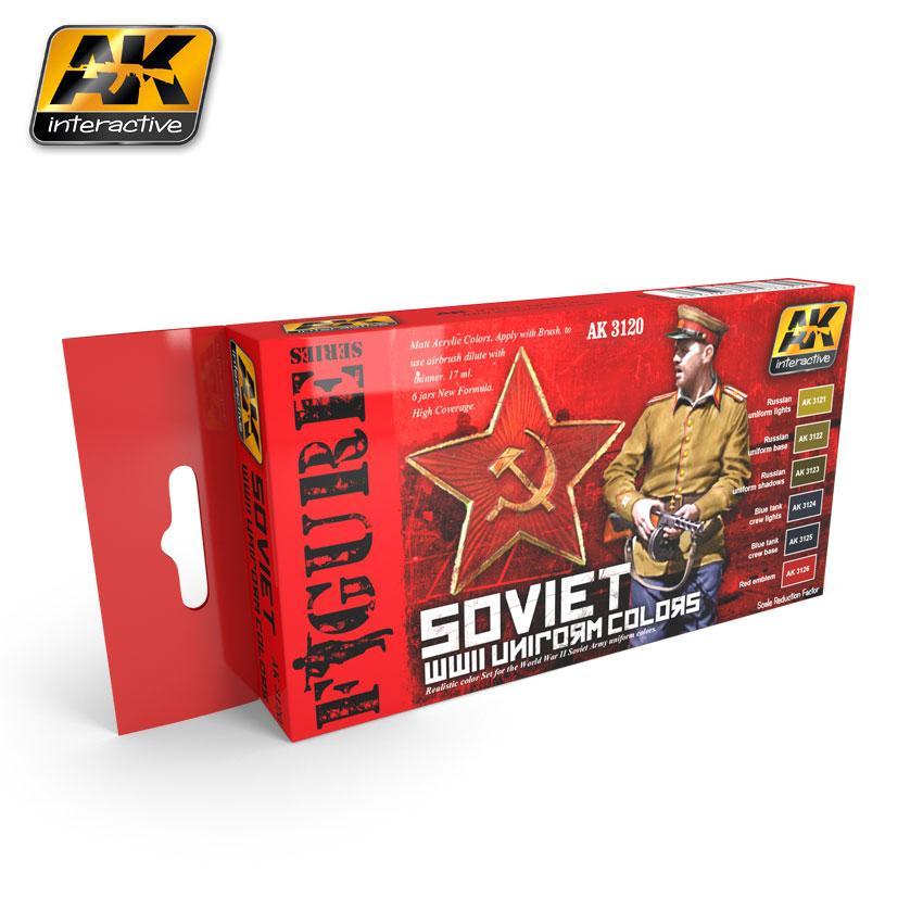 AK Interactive - Soviet WWII Uniform Colors Set