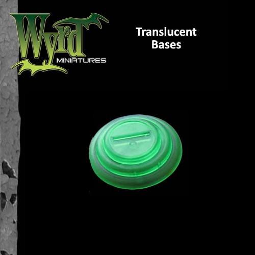 Green Translucent Bases 30mm 10
