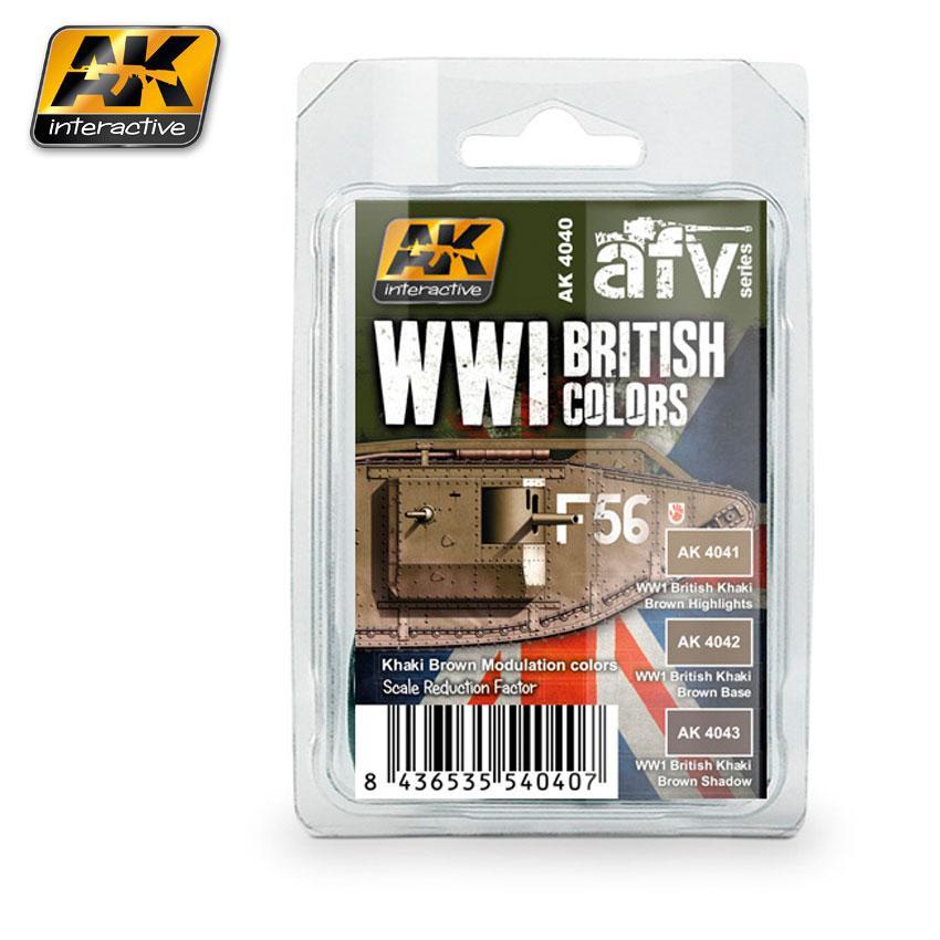 AK - WWI British Colours (Khaki Brown Modulation Set)