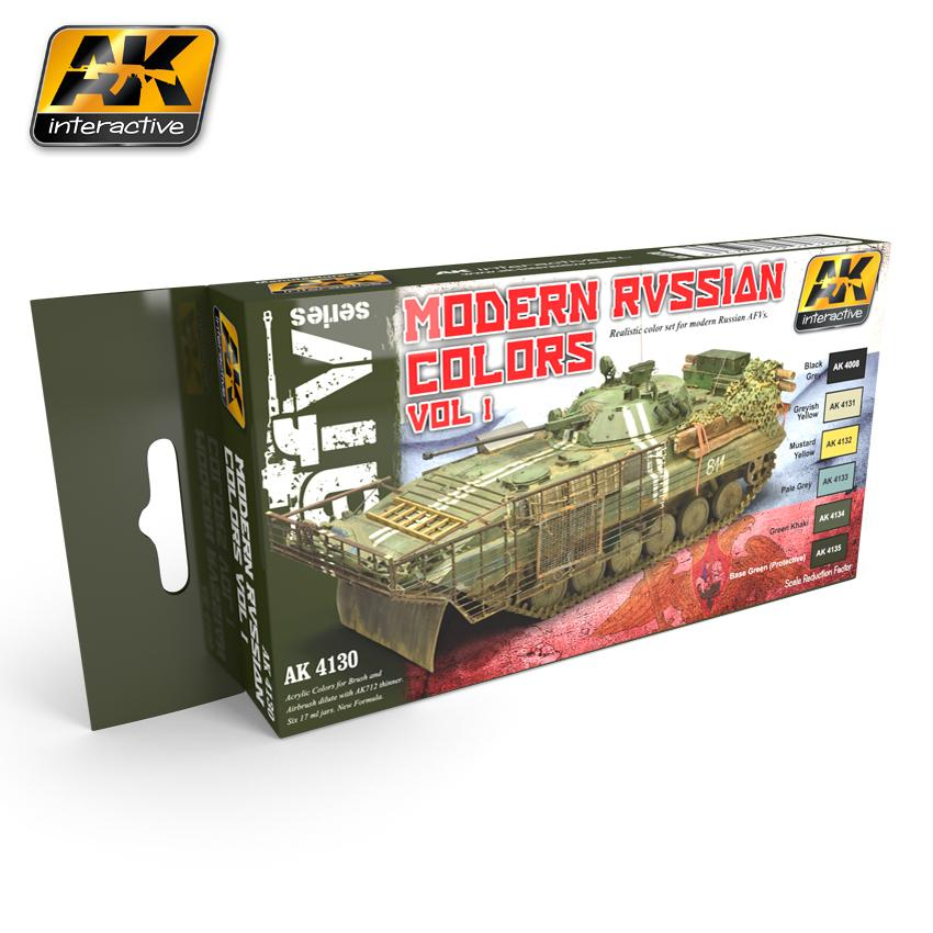 AK Interactive - Modern Russian Colours Vol.1 Set