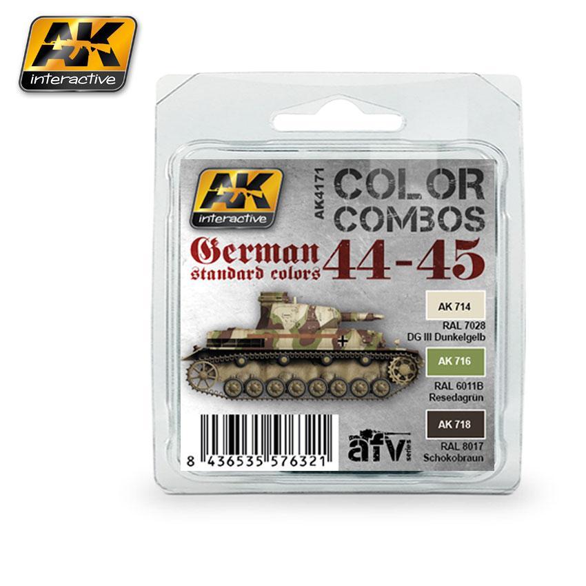 AK Interactive - German Sta ndard 1944-45 Colour Combo Set
