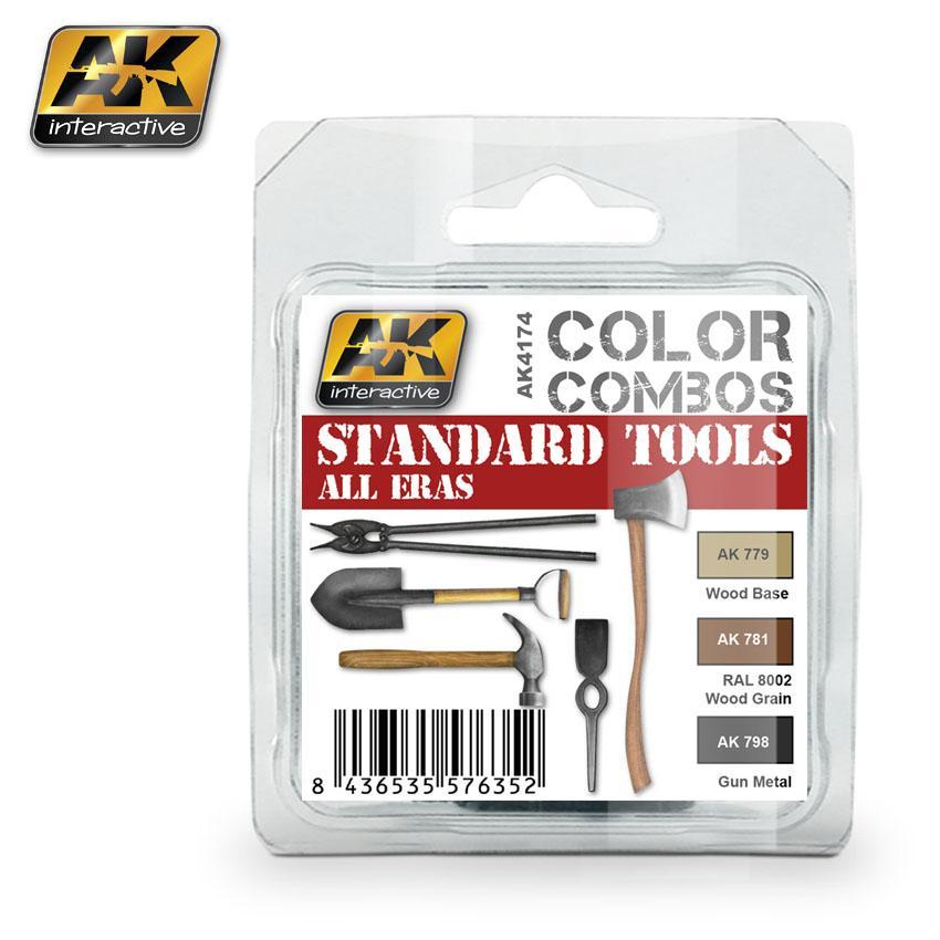 AK Interactive - Standard Tools All Eras Color Combo Set