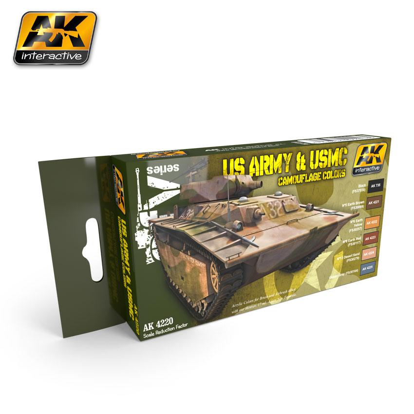 AK Interactive - US Army & USMC Camouflage Colors Set