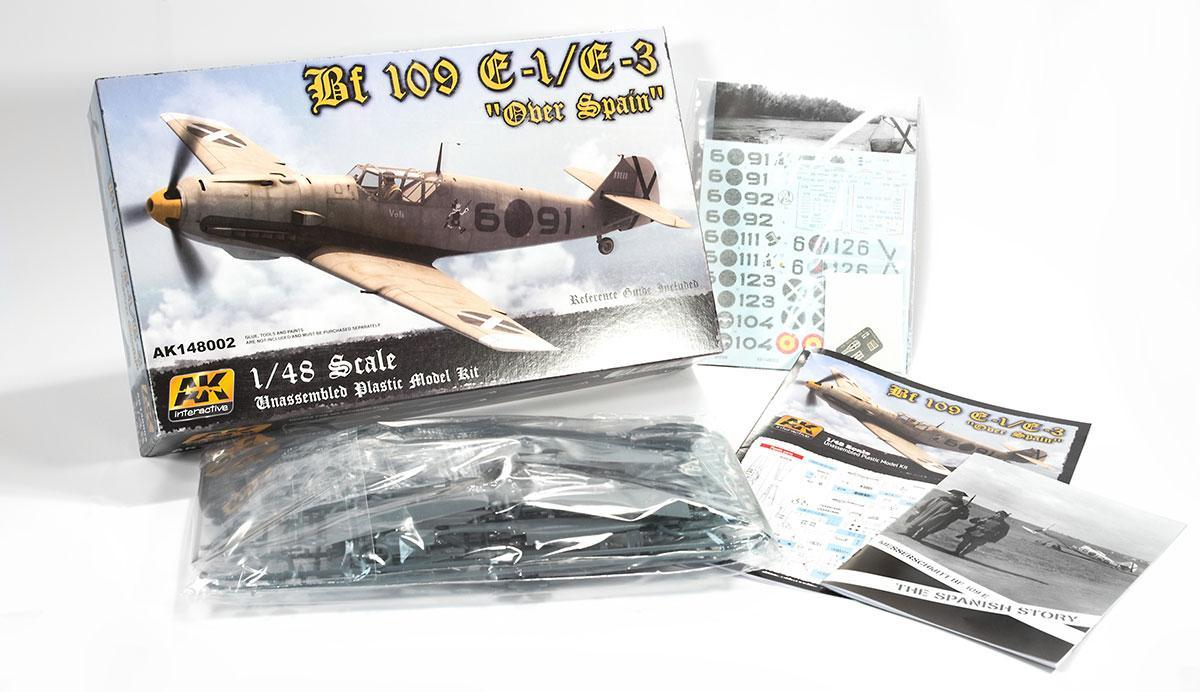 AK Interactive Kits 1:48 - Bf -109 E-1 / E-3 Over Spain