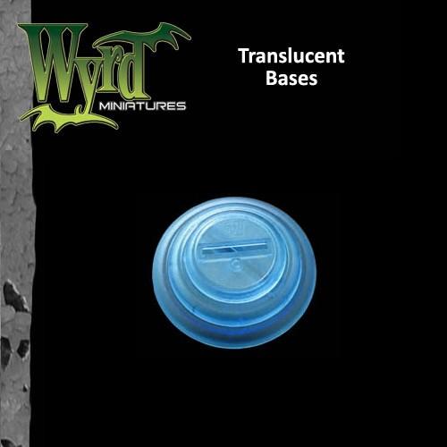 Blue Translucent Bases 50mm 3