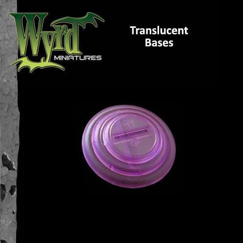 Purple Translucent Bases 50mm 3