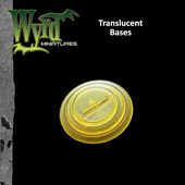 Gold Translucent Bases 30mm 10