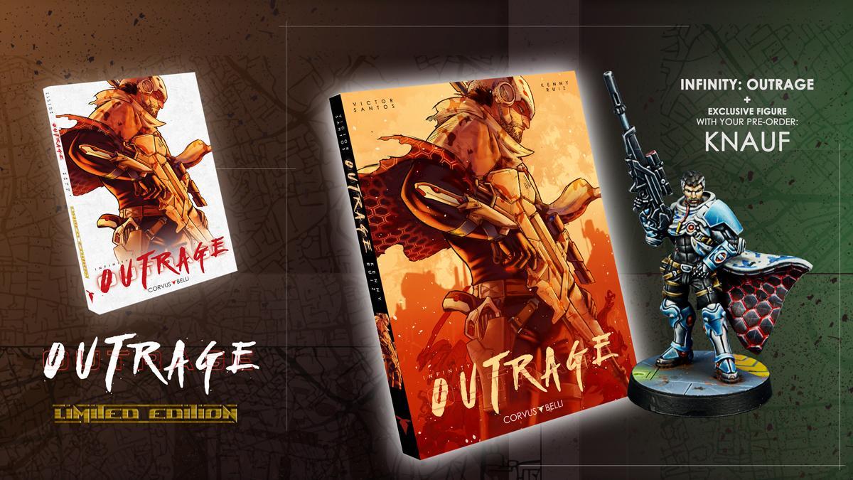 Infinity: Outrage (Limited edition) Manga Grpahic Novel inc. exclusive figure of Knauf