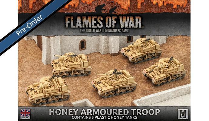 Desert Rats Honey Armoured Troop (Plastic, x5)
