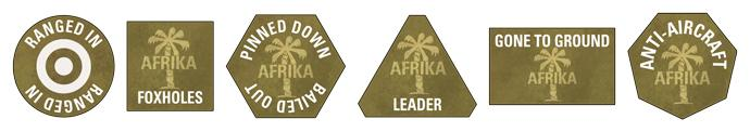 Afrika Korps Tokens (x20)