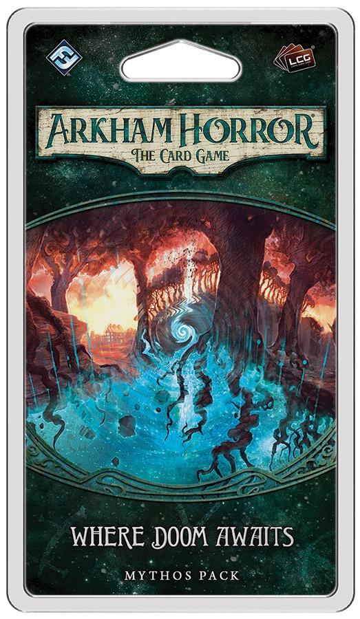 Where Doom Awaits Mythos Pack: Arkham Horror LCG Exp.