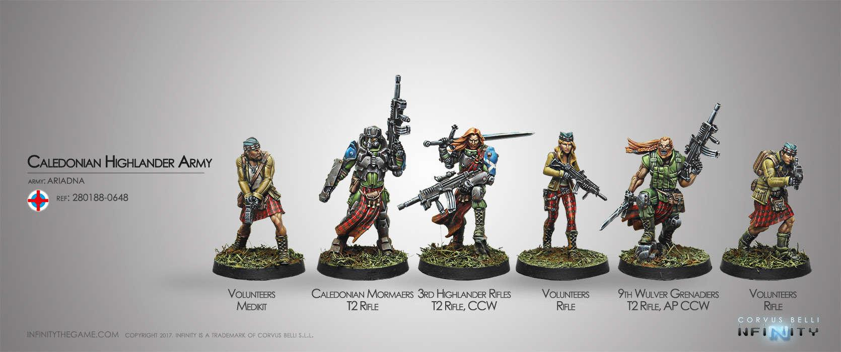 Caledonian Highlander Army (Ariadna Sectorial Starter Pack)