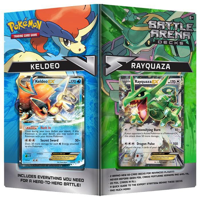 Pokemon TCG Battle Arena Decks: Rayquaza vs Keldeo