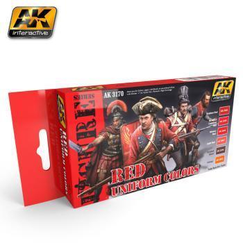 AK Interactive Set - Red Uniform Colours