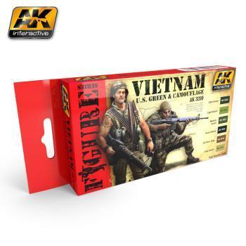 AK Interactive Set - Vietnam U.S Green & Camouflage