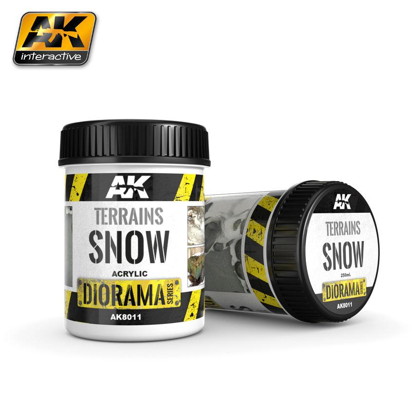 AK Interactive Terrain 250ml - Snow