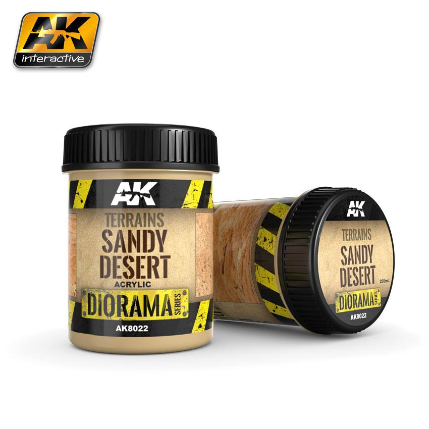 AK Interactive Terrain 250ml - Sandy Desert