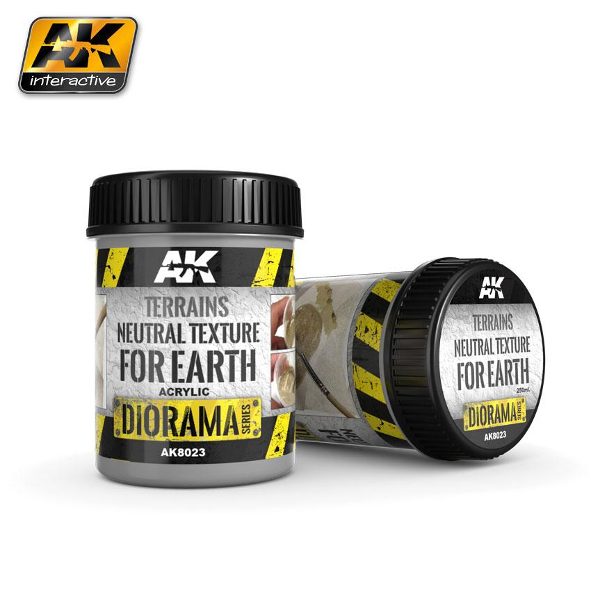 AK Interactive Neutral Texture - Earth 250ml