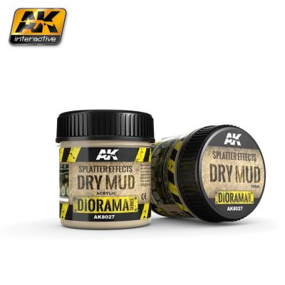 AK Interactive - Splatter Effects Dry Mud 100ml