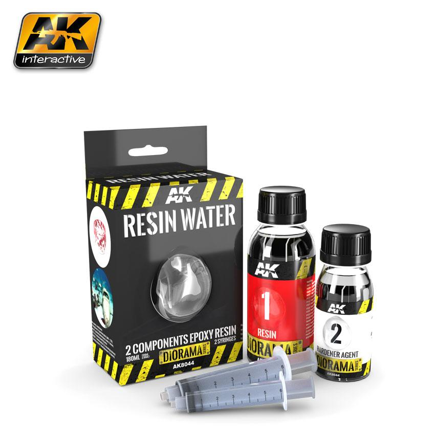 AK Interactive - Resin Water 3 Part Epoxy 180ml