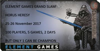 Element Games Grand Slam Horus Heresy