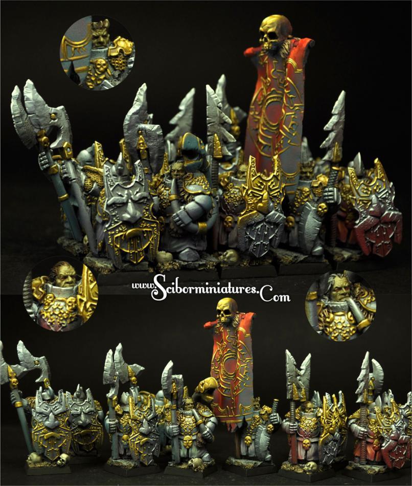Dark Guard Evil Dwarves 10 miniatures (10)