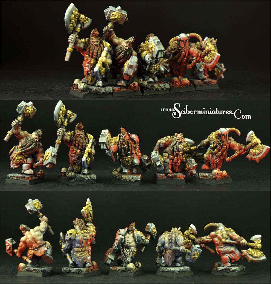Furious Warriors set of 5 miniatures (5)
